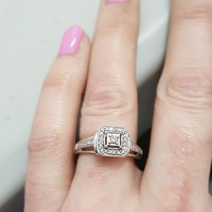 Sterling silver promise/engagement ring